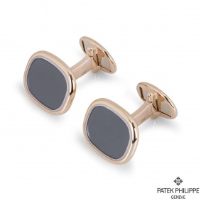Patek Phillipe Rose Gold Ellipse Cufflinks 205.9102R5-010